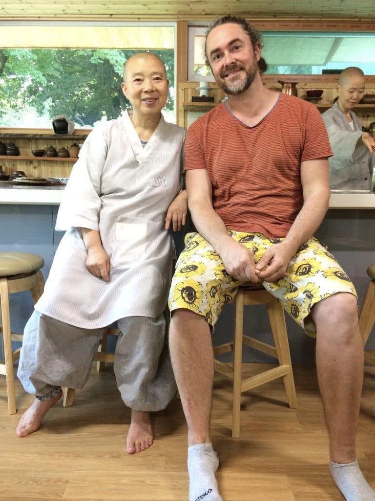 Jeong Kwan with Adam James