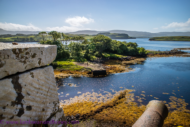 discover scotland, view from the battlements, dunvegan castle