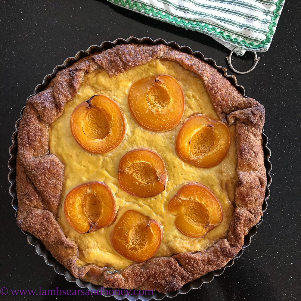Rustic and simple - Ricotta, Apricot and Marmalade Galette