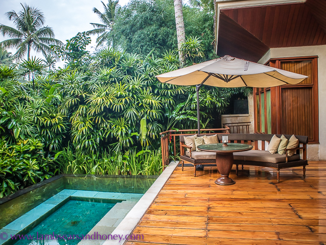 luxury accommodation in bali - four seasons sayan private villa pool