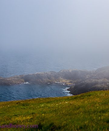 lewis in the outer hebrides, rocky coast near portvoller