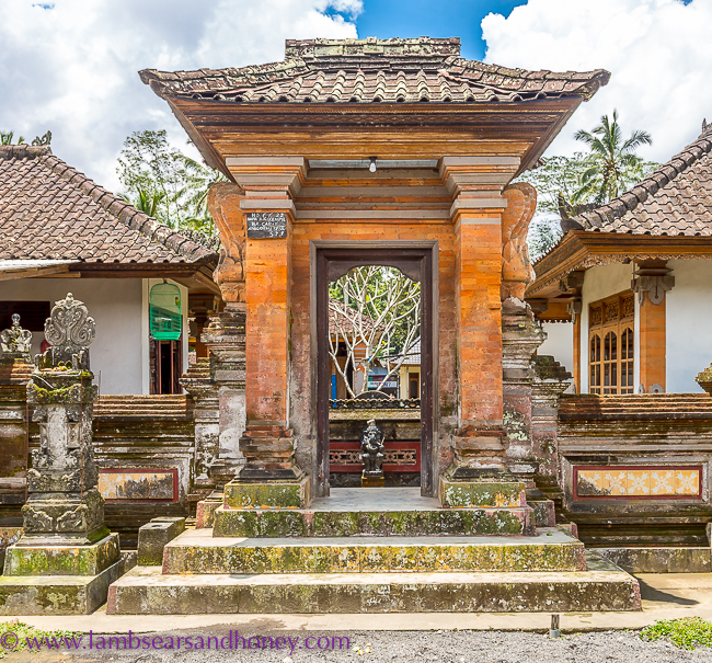 Entrance to a bali home