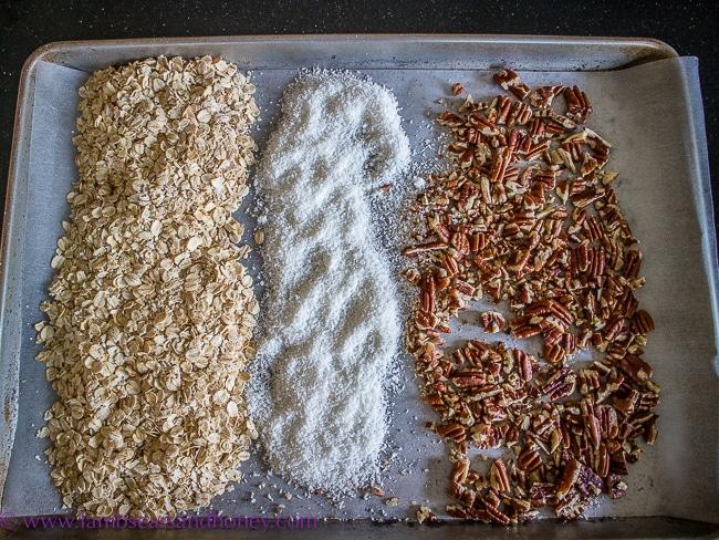 Dry ingredients for citrus granola