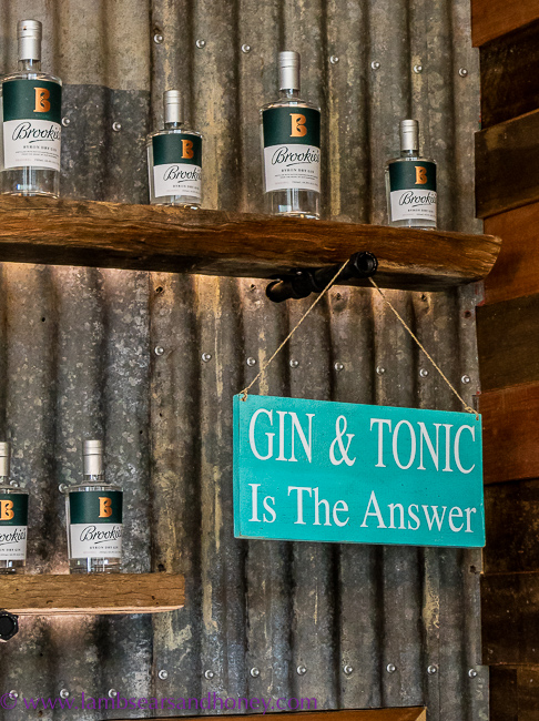 Gin sign at Cape Byron Distillery,