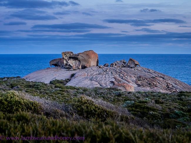 Kangaroo Island Food, Remarkable Rocks, evening