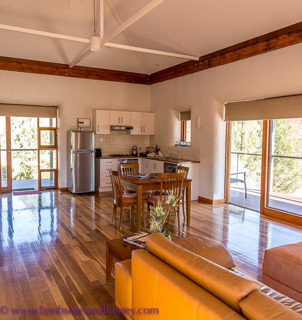 Living area, eco-villa at Rawnsley Park Station, Flinders Ranges