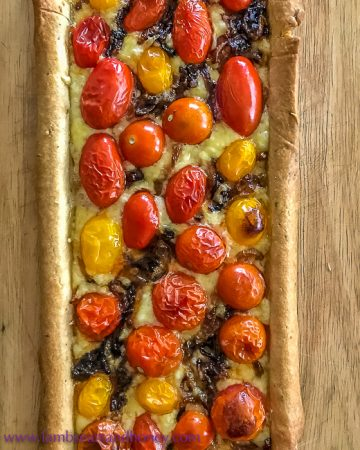 My Cherry Tomato and Thyme Tart is too easy!