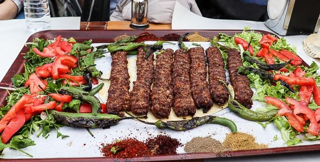 Final tray of Kebabs, Culinary Backstreets Istanbul