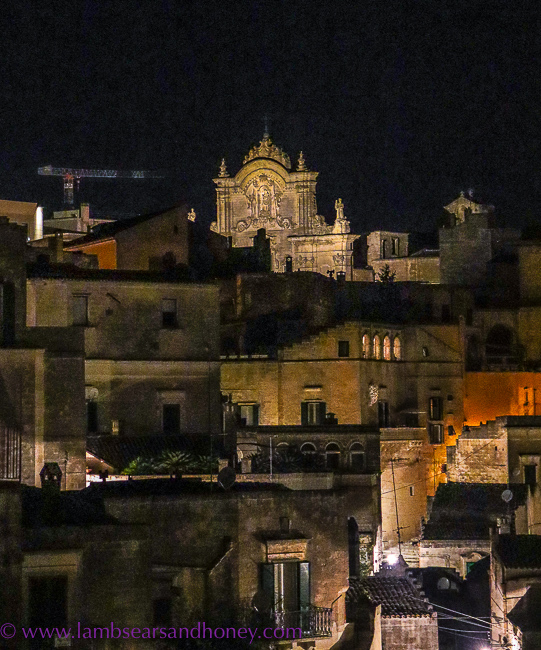 sassi at night, in matera