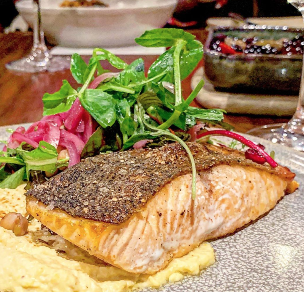 Salmon, Hilton Adelaide Coal Cellar and Grill