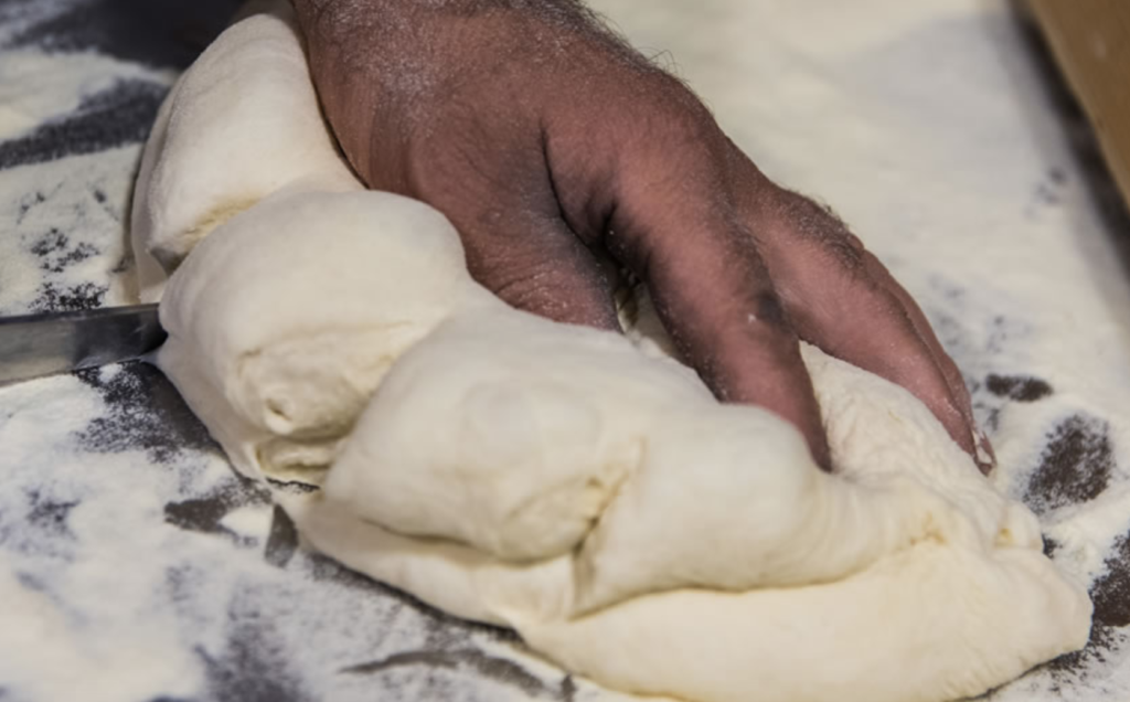 traditional loaf shaping of bread in matera