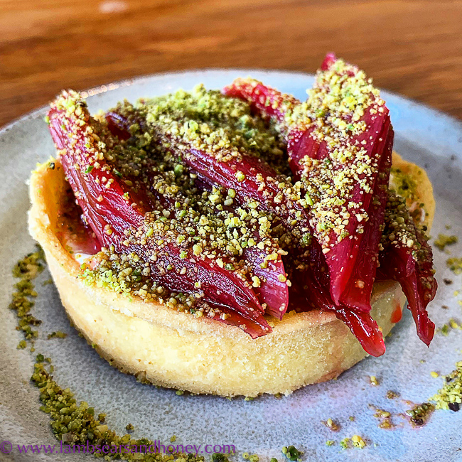 rhubarb tart, Fino, Barossa Shiraz Estate