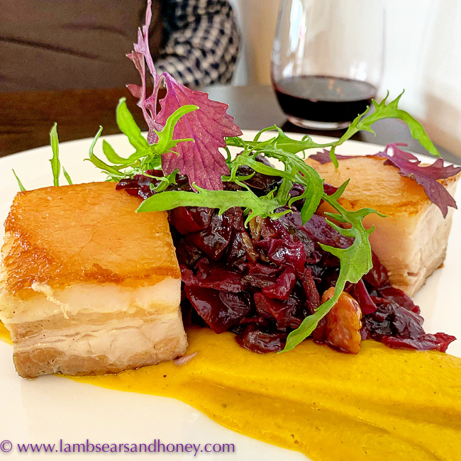 Pork belly lunch at Vino Lokal, Barossa Shiraz Estate