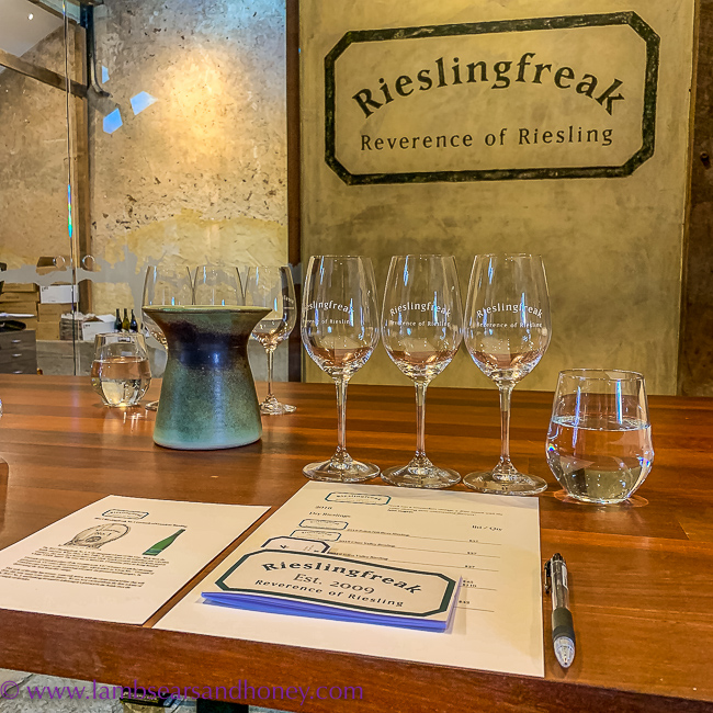 Tasting at Riesling Freak, Barossa Shiraz Estate