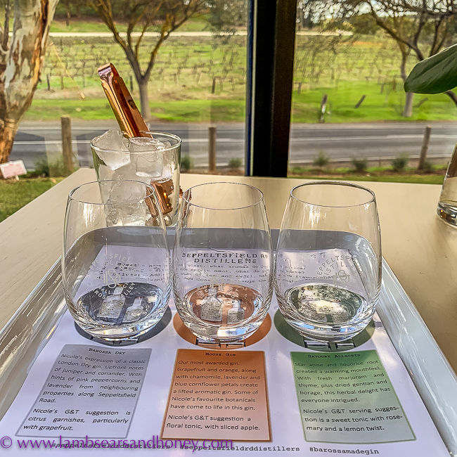 Gin tasting at seppeltsfield road distillers, Barossa Shiraz Estate
