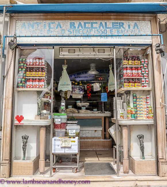 Baccala shop, naples food tour