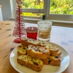 pistachio, cranberry and orange biscotti