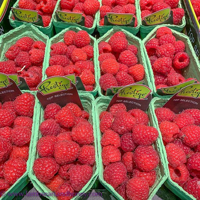 Raspberries, visit rungis