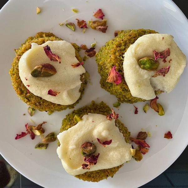 Australian food - pistachio and olive oil friands