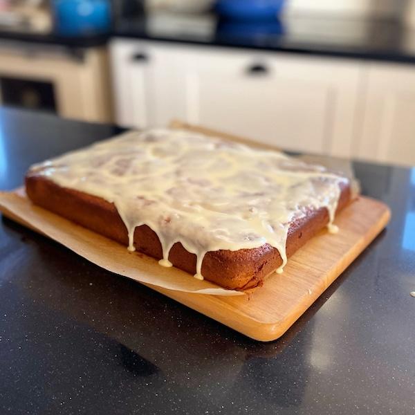 new cookbooks, orange and honey melt-and-mix cake