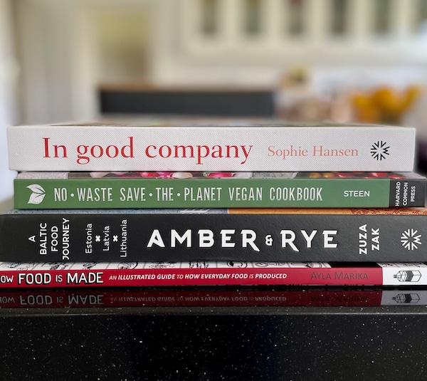 new cookbooks on my desk